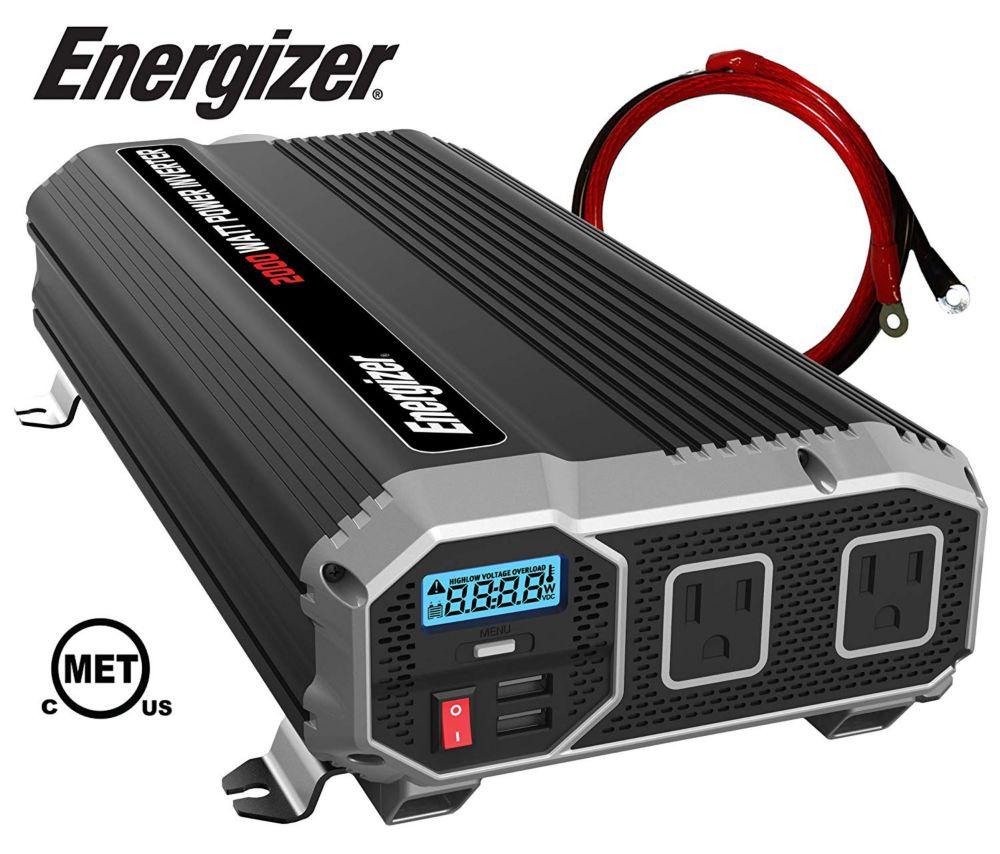 Energizer 2000 Watt 12V DC to 120V AC Power Inverter