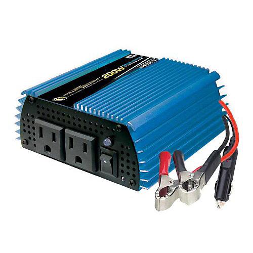 200 Watt 12V DC to 120V AC Power Inverter