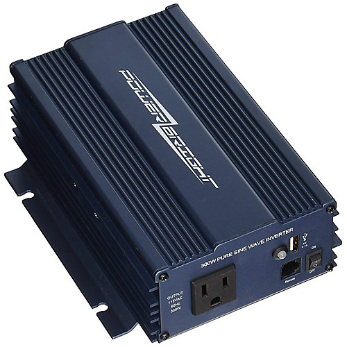 300 Watt 12V DC to 120V AC Pure Sine Wave Power Inverter