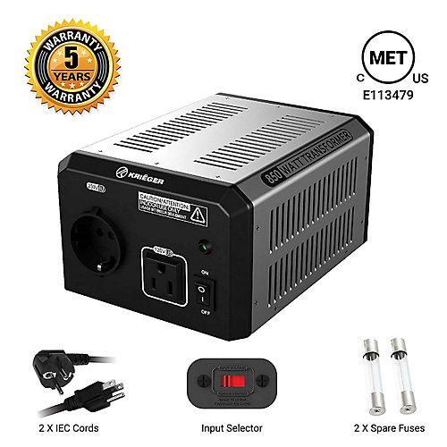 850 Watt voltage converter/transformer 120V to/from 220V-240V
