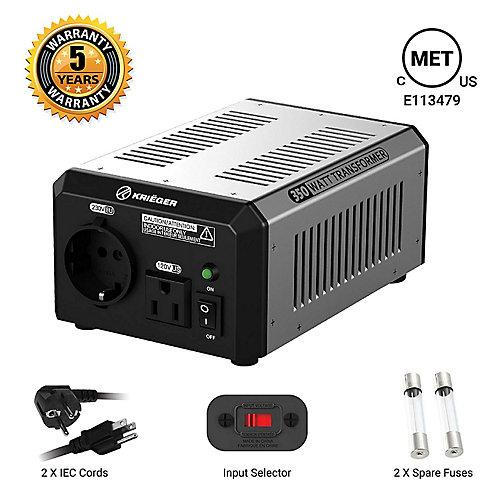350 Watt voltage converter/transformer 120V to/from 220V-240V