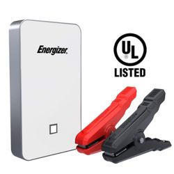 Energizer 7500mAh UL listed lithium jump starter and 2.4A power bank (WHITE)