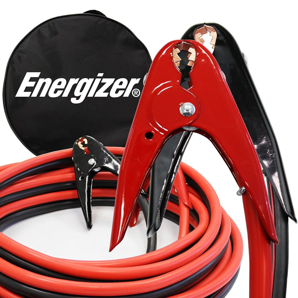 Energizer 2 gauge 16 foot 800 Amp professional jumper booster cables