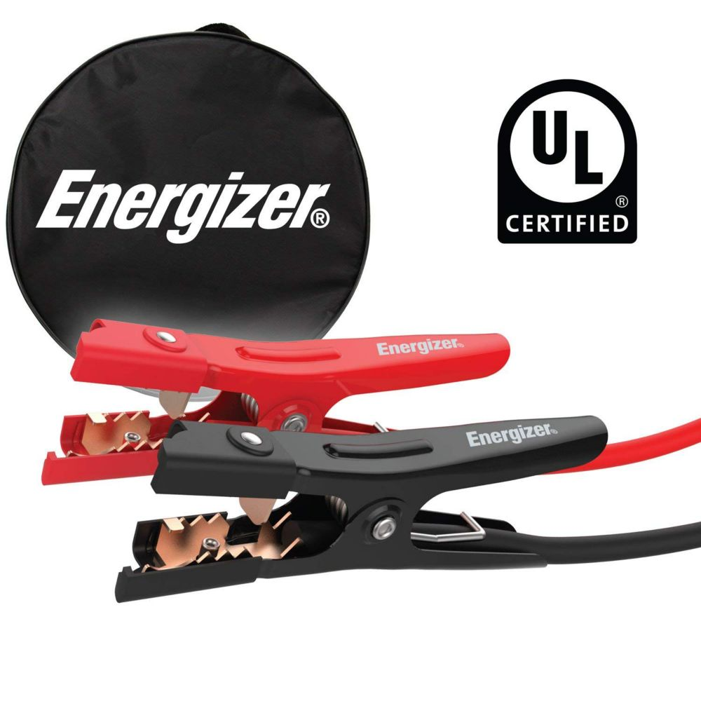 Energizer 4 gauge 20 foot 500 Amp professional UL certified jumper booster cables