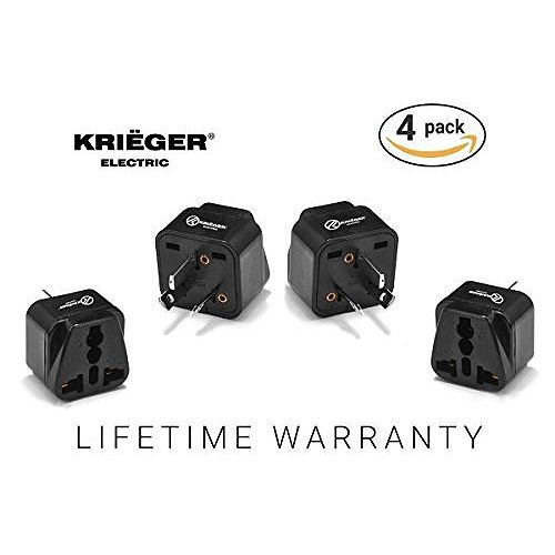 Krieger Universal to Australian plug adapter (4-Pack)