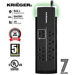 Krieger Barre multiprise à 7prises avec parasurtenseur 540J