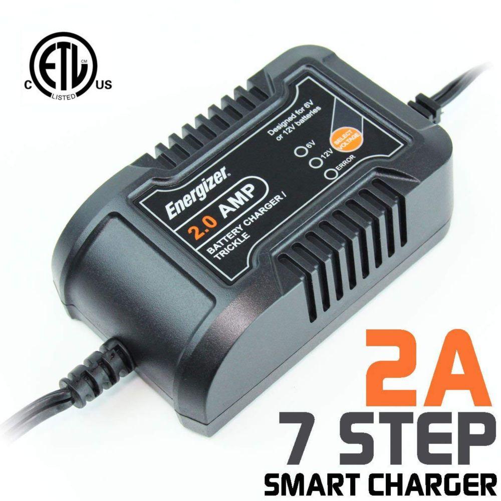 Energizer Battery Charger & Maintainer 6V / 12V batteries - 2A