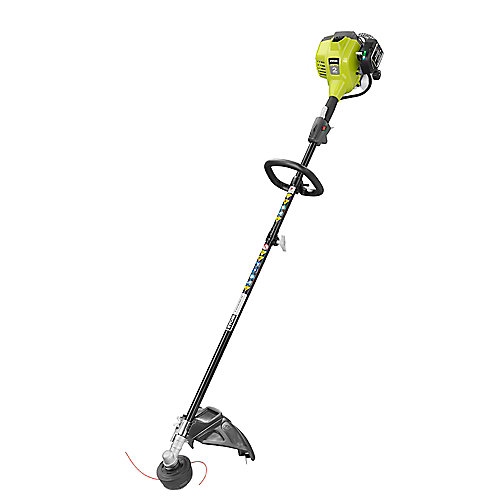 25 cc 2-Cycle Attachment Capable Full Crank Straight Gas Shaft String Trimmer