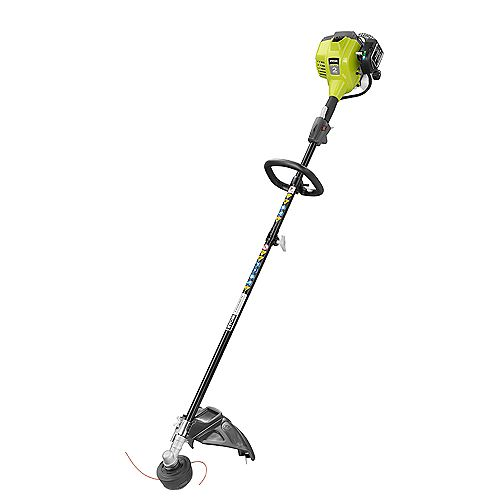 RYOBI 25 cc 2-Cycle Attachment Capable Full Crank Straight Gas Shaft String Trimmer
