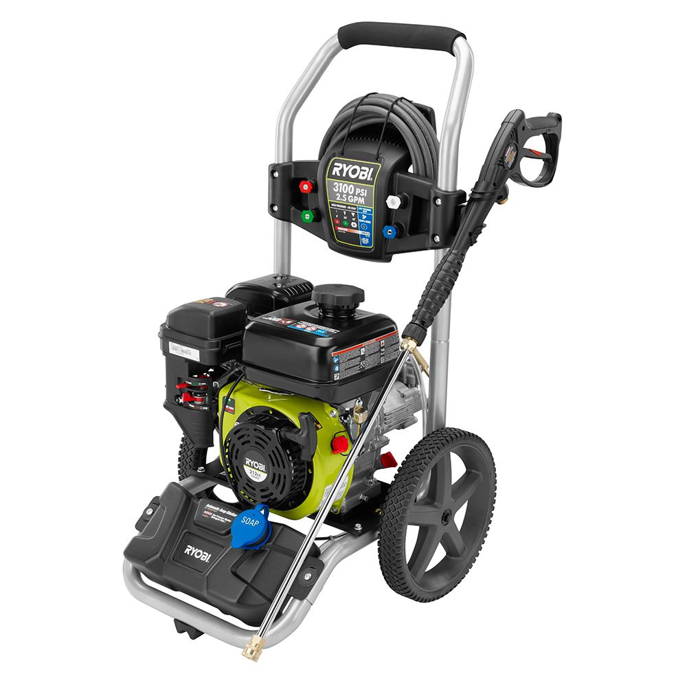 Ryobi 3 100 Psi 2 5 Gpm 212cc Gas Pressure Washer With Idle Down The Home Depot Canada