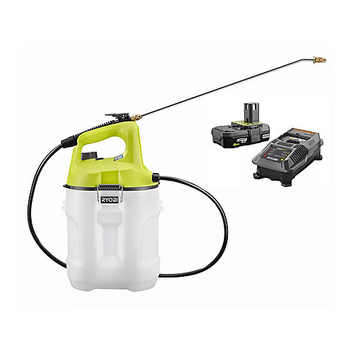 ONE+ 18V Lithium-Ion Cordless 2 Gal. Chemical Sprayer with 2.0 Ah Battery and Charger Included
