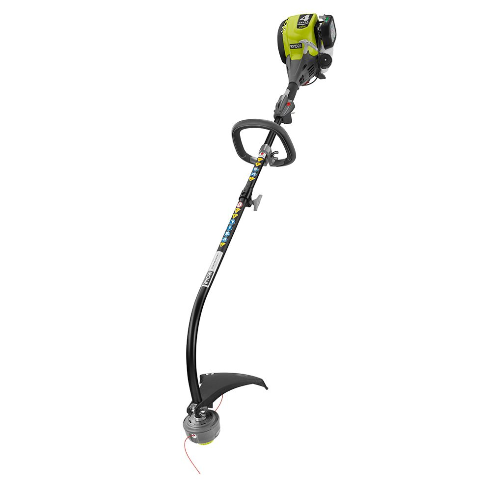 Ryobi 4-Cycle 30cc Attachment Capable Curved Shaft Gas Trimmer RY4CCS