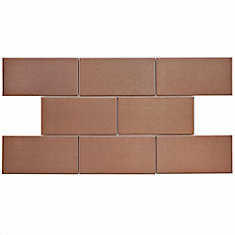 Alloy Subway Copper 3-inch x 6-inch Stainless Steel Over Porcelain Wall Tile (10 sq. ft. / case)