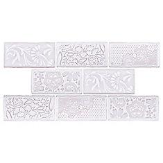 Antic Feelings Milk 3-inch x 6-inch Ceramic Wall Tile (4 sq. ft. / case)