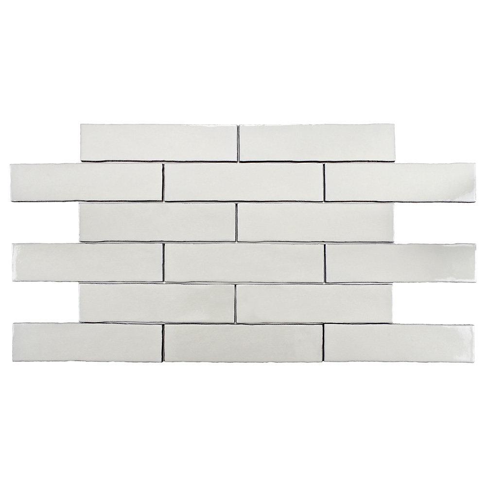 Alaska Craquelle White 3-inch x 12-inch Ceramic Wall Tile (4 sq. ft. / case)