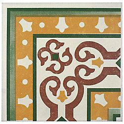 Merola Tile Cementi Quatro Trab Esquina 7-inch x 7-inch Porcelain Floor and Wall Corner Tile (1.46 sq.ft./ case)