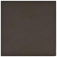 Klinker Chocolate Black Bullnose 5-7/8-inch x 5-7/8-inch Ceramic Floor & Wall Quarry Tile(2.08sf/ca)