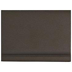 Klinker Chocolate Black Skirting 4-1/2-inch x 5-7/8-inch Ceramic Floor & Wall Quarry Tile(1.62sf/ca)