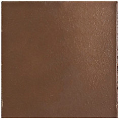 Klinker Flame Red Bullnose 5-7/8-inch x 5-7/8-inch Ceramic Floor and Wall Quarry Tile (2.08 sf/case)