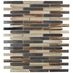 Merola Tile Rustica Brick Highlands 10-3/4-inch x 12-3/4-inch x 8 mm Porcelain Mosaic Tile (9.72 sq. ft. / case)