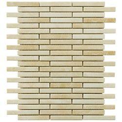 Merola Tile Rustica Brick Perla Bone 10-3/4-inch x 12-3/4-inch x 8 mm Porcelain Mosaic Tile(9.72 sq. ft. / case)