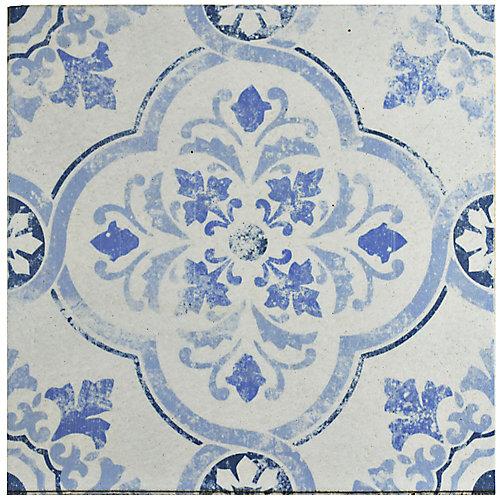 Klinker Alcazar Celosia 12-3/4-inch x 12-3/4-inch Ceramic Floor and Wall Quarry Tile (7.04 sq.ft./case)