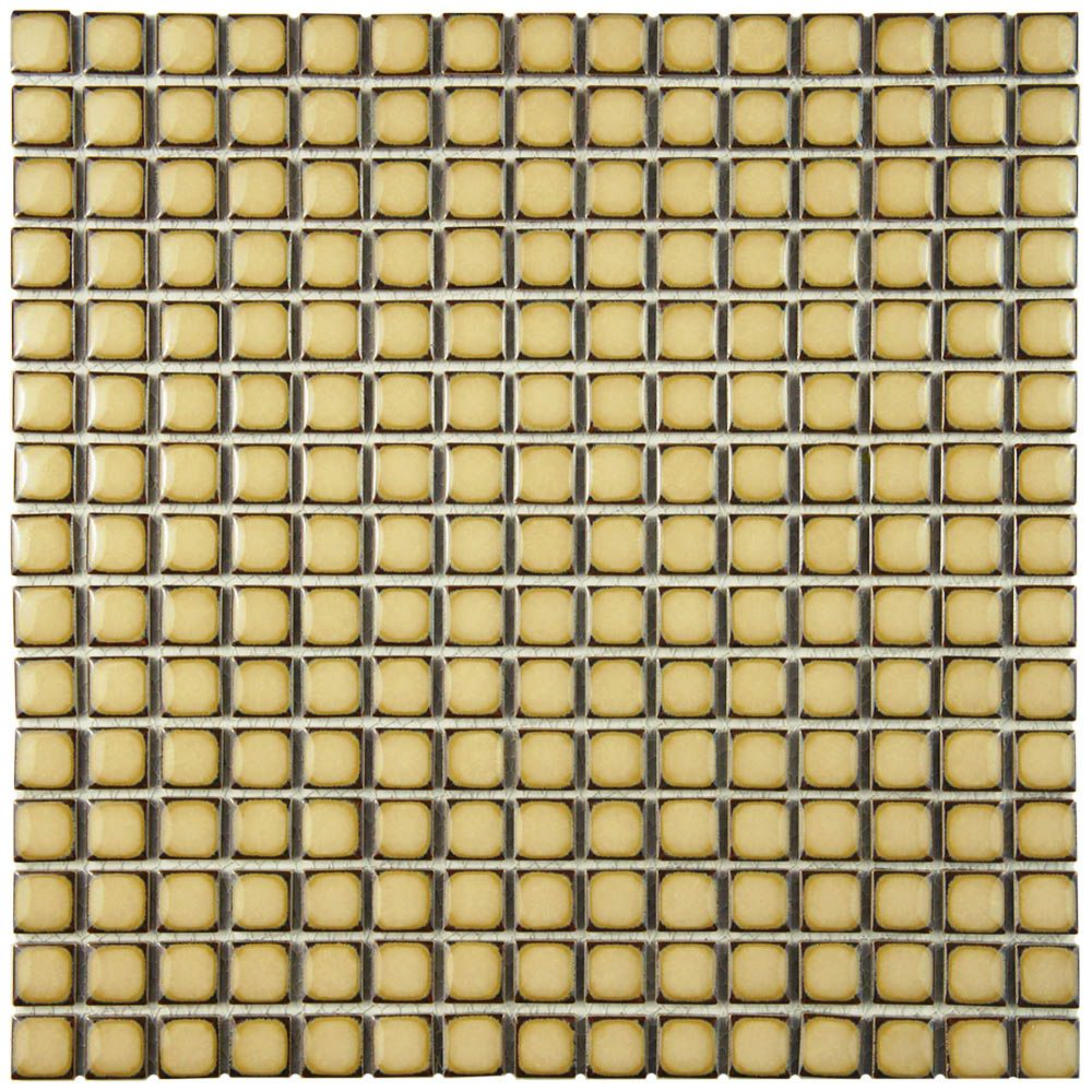 Hudson Edge Caffe 12-3/8-inch x 12-3/8-inch x 6 mm Porcelain Mosaic Tile (10.85 sq. ft. / case)