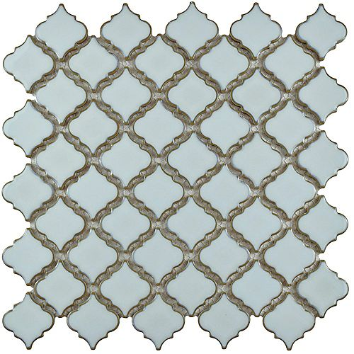 Merola Tile Hudson Tangier Silk White 12-3/8-inch x 12-1/2-inch x 5 mm Porcelain Mosaic Tile (10.96 sq.ft./case)