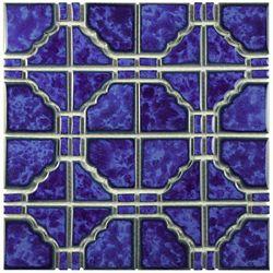 Merola Tile Osaka Blue Cloud 11-3/4-inch x 11-3/4-inch x 6 mm Porcelain Mosaic Tile (9.79 sq. ft. / case)