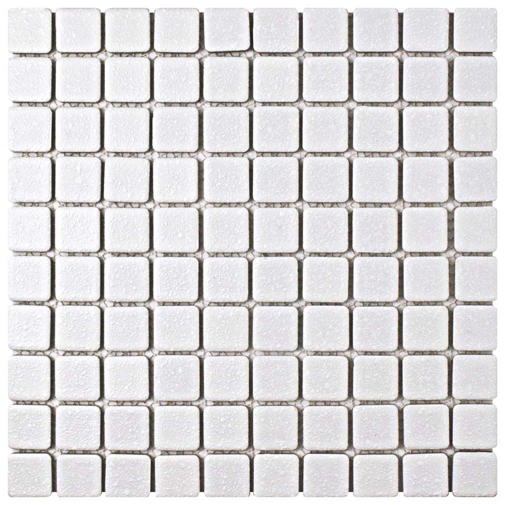 Merola Tile Crystalline Square White 11-3/4-inch x 11-3/4-inch x 5 mm Porcelain Mosaic Tile(9.79 sq. ft. / case)