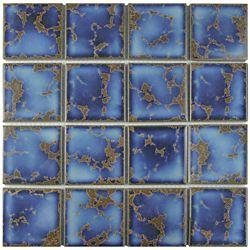 Merola Tile Channel Terra Azure Mega Square 12-1/2-inch x 12-1/2-inch x 5 mm Porcelain Mosaic Tile (11.07 sf/ca)