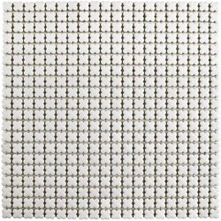 Merola Tile Fioretti Glossy Blanco 12-inch x 12-inch x 5 mm Ceramic Mosaic Tile (10.21 sq. ft. / case)