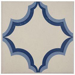 Merola Tile Carreau de centre mur et sol en porcelaine 7 po x 7 po Cementi Quatro Ara Centro (10,95 pi2/bte)