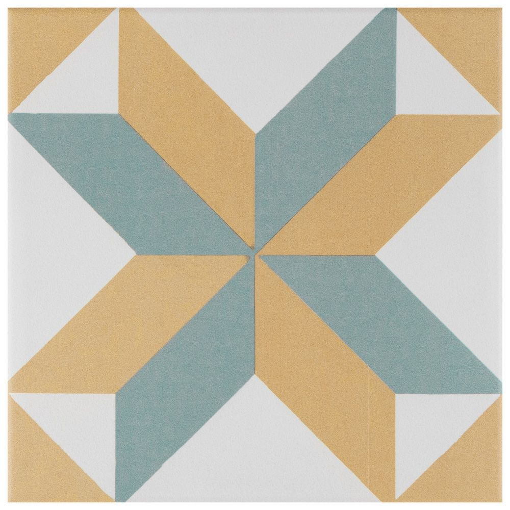 Merola Tile Revival Pattern 7-3/4-inch x 7-3/4-inch Ceramic Floor and Wall Tile (11 sq. ft. / case)