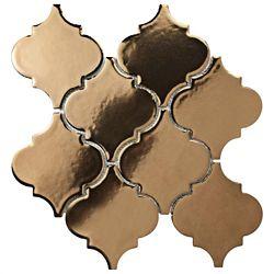 Merola Tile Essence Lantern Burnished Bronze 10-1/2-inch x 10-1/2-inch x 9 mm Porcelain Mosaic Tile (7.84 sf/ca)