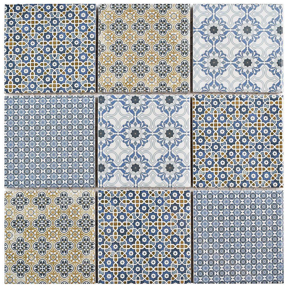 Merola Tile Classico 11-5/8-inch x 11-5/8-inch x 6 mm Porcelain Mosaic Tile (9.59 sq. ft. / case)