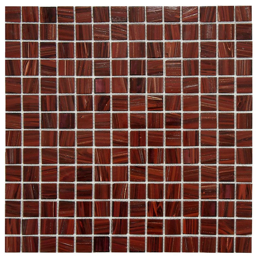 Coppa Auburn 12-inch x 12-inch x 4 mm Glass Mosaic Tile (13.27 sq. ft. / case)