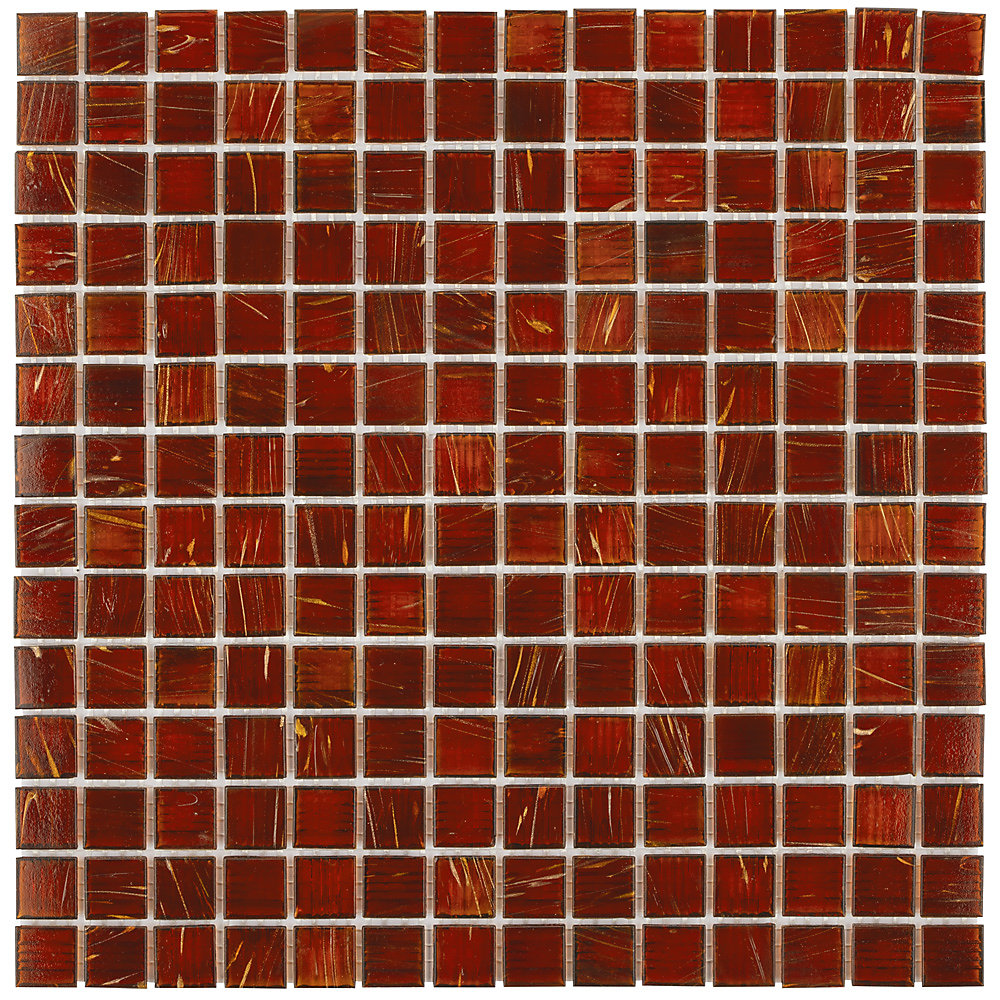 Coppa Genghis Red 12-inch x 12-inch x 4 mm Glass Mosaic Tile (13.27 sq. ft. / case)