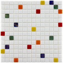 Merola Tile Coppa Happy 12-inch x 12-inch x 4 mm Glass Mosaic Tile (13.27 sq. ft. / case)