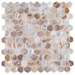 Merola Tile Conchella Hexagon Natural 11-1/2-inch x 11-5/8-inch x 2 mm Natural Seashell Mosaic Tile (9.49 sf/ca)