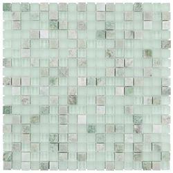 Merola Tile Tessera Mini Ming 11-3/4-inch x 11-3/4-inch x 8 mm Glass and Stone Mosaic Tile (9.79 sq. ft. / case)