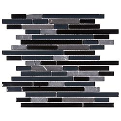 Merola Tile Tessera Piano Bizancio 11-3/4-inch x 11-7/8-inch x 8 mm Glass and Stone Mosaic Tile (9.9 sq ft/case)