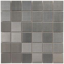 Merola Tile Carreau de mosaïque en inox sur porcelaine 11 7/8 po x 11 7/8 po x 8 mm alliage Quad (10 pi2/bte)