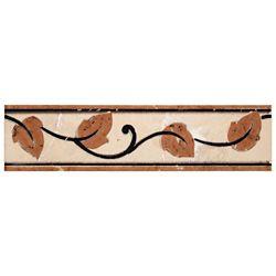 Merola Tile Aroas Listello Arena 2-inch x 8-inch Ceramic Wall Trim Tile (5.5 Ln. ft. / case)