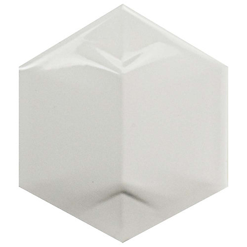Magical 3D Star Glossy White 4-1/4-inch x 4-7/8-inch Ceramic Wall Tile (6 sq. ft. / case)