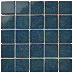 Merola Tile Carreau de mosaïque en porcelaine 12 po x 12 po x 5 mm Resort, bleu corail (10,21 pi2/bte)