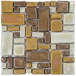 Merola Tile Cobble Tahoma 12-inch x 12-inch x 12 mm Ceramic Mosaic Tile (5.1 sq. ft. / case)