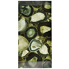 Fossil Panorama Geode Verde 11-3/4-inch x 23-3/4-inch Glass Wall Tile (10 sq. ft. / case)