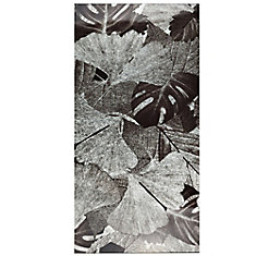 Fossil Panorama Gingko Silver 11-3/4-inch x 23-3/4-inch Glass Wall Tile (10 sq. ft. / case)