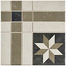Merola Tile Century Antebellum 9-3/4-inch x 9-3/4-inch Porcelain Floor and Wall Tile (11.11 sq. ft. / case)